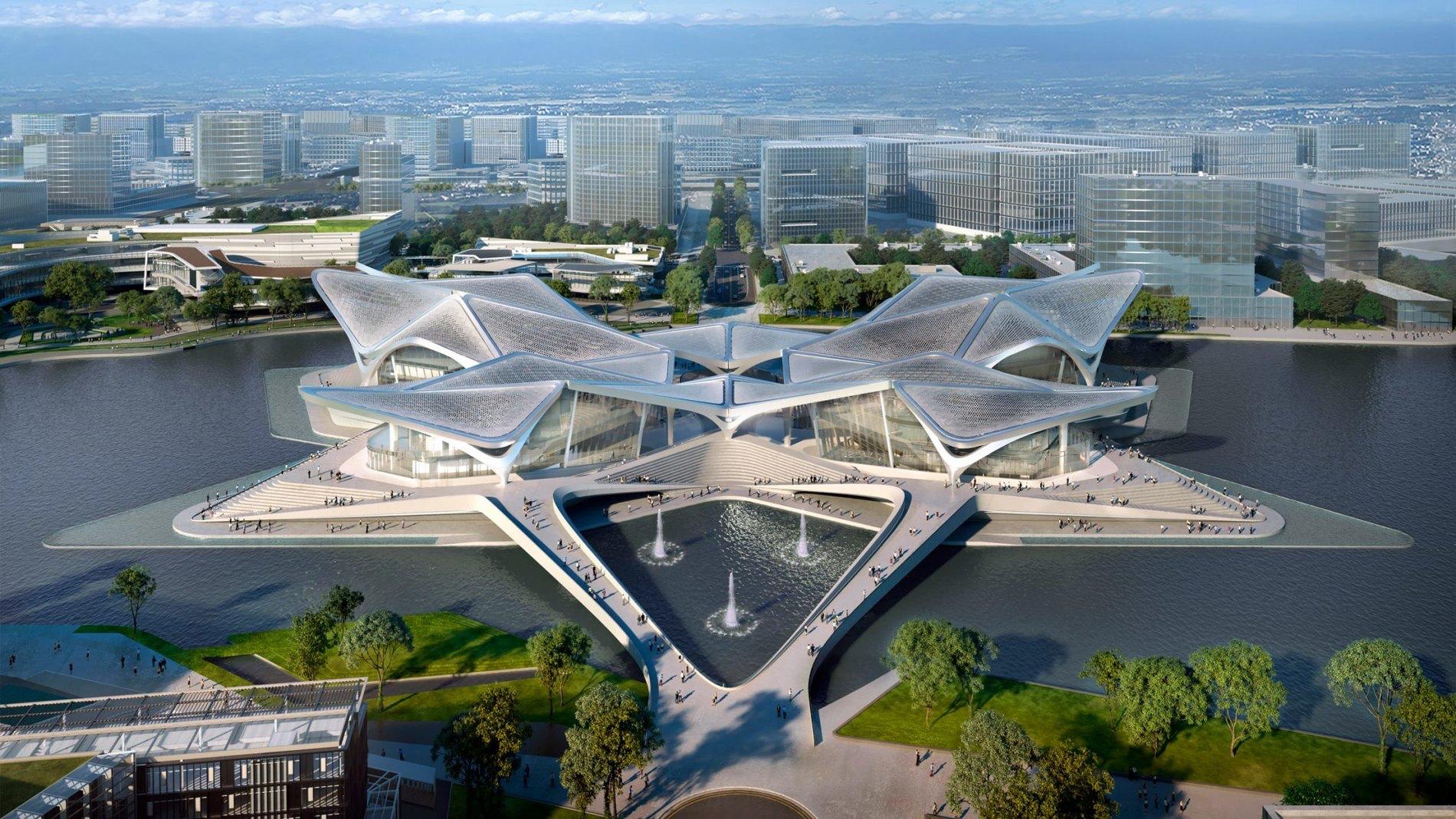 Zaha Hadid спроєктувало центр мистецтв у Китаї