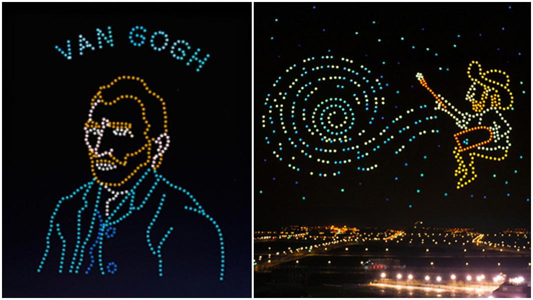 Сотні дронів відтворили картини Ван Гога