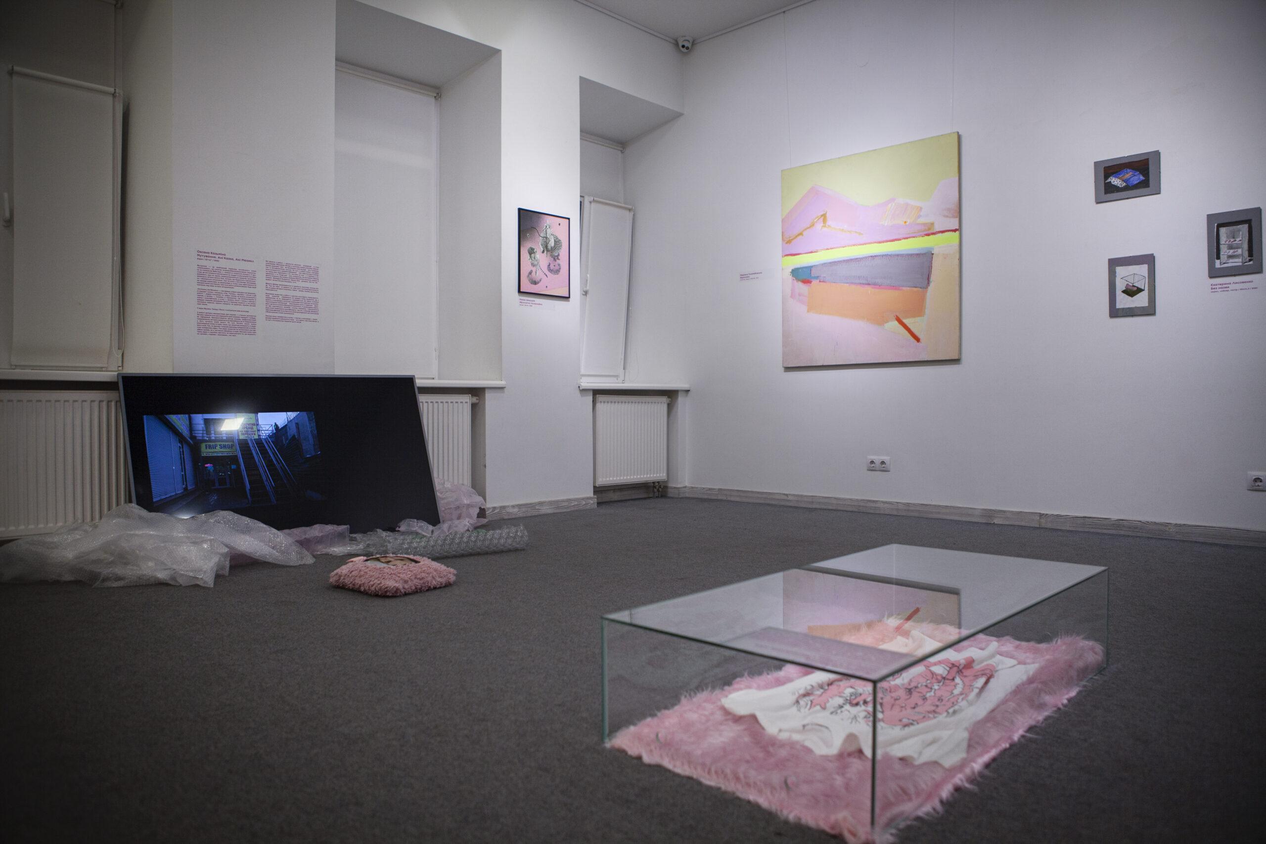 «Рожева виставка», вигляд експозиції в галереї «Білий світ», 2021