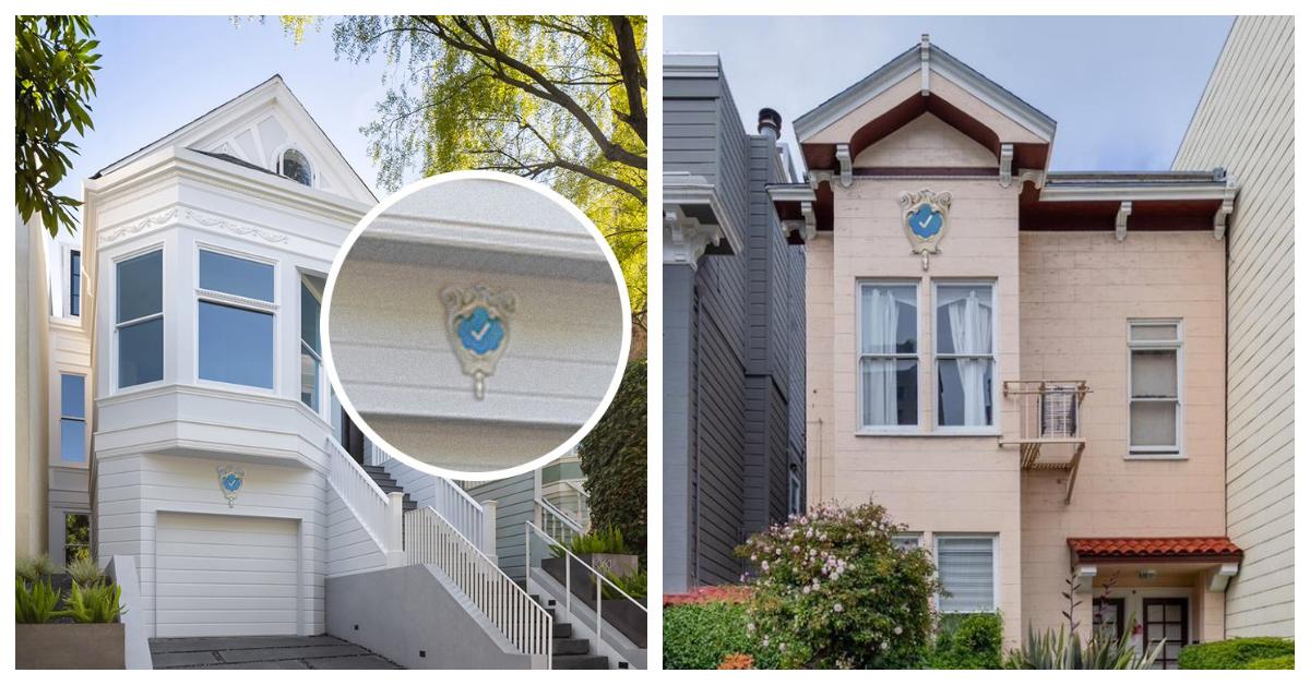 Художниця жартома запропонувала вішати сині галочки на будинках, а люди сприйняли це серйозно