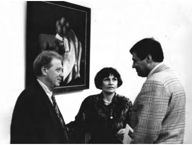 Зліва направо: Фелікс Кохрена, Маргарита Жаркова, Георгій Котов, «ТИРС», 1990-ті