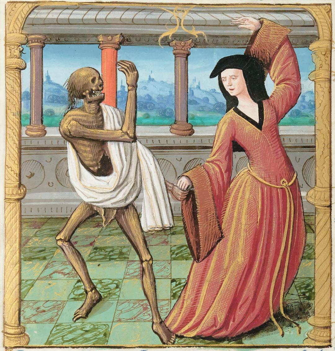 Французький манунскрипт під назвою Danse Macabre, що містить текст з La danse macabre — фрески, написаної в Cimetière des Innocents у Парижі в 1424 році. Оцифрована версія манунскрипту у вільному доступі