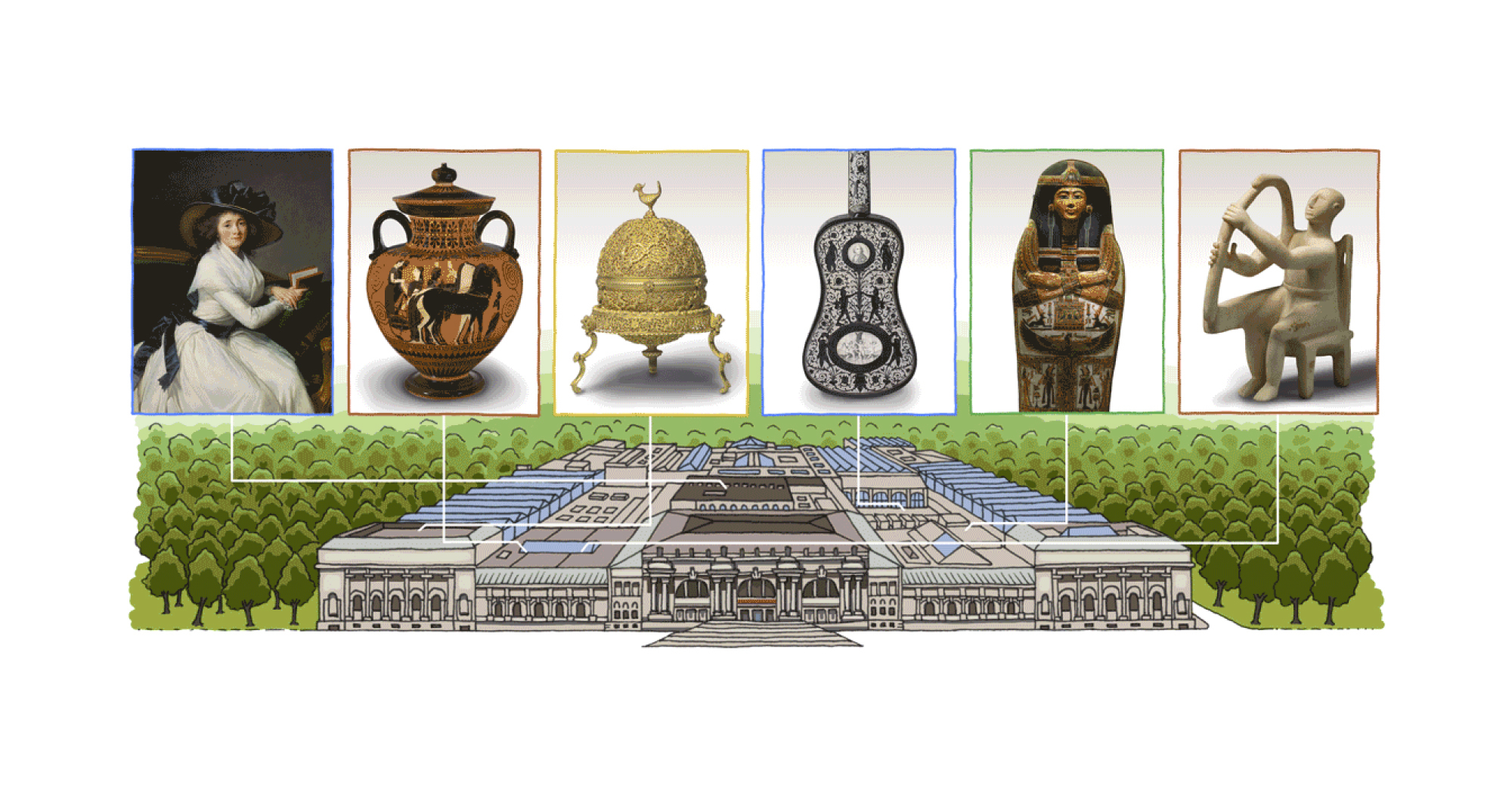 Doodle: Google відсвяткував 151-річчя Музею Метрополітен