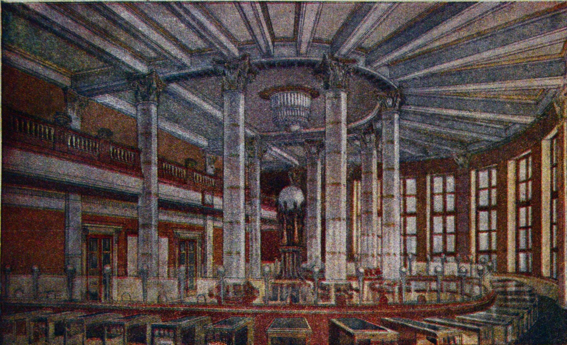 Архитектор Пети. Операционный зал дворца связи, 1936