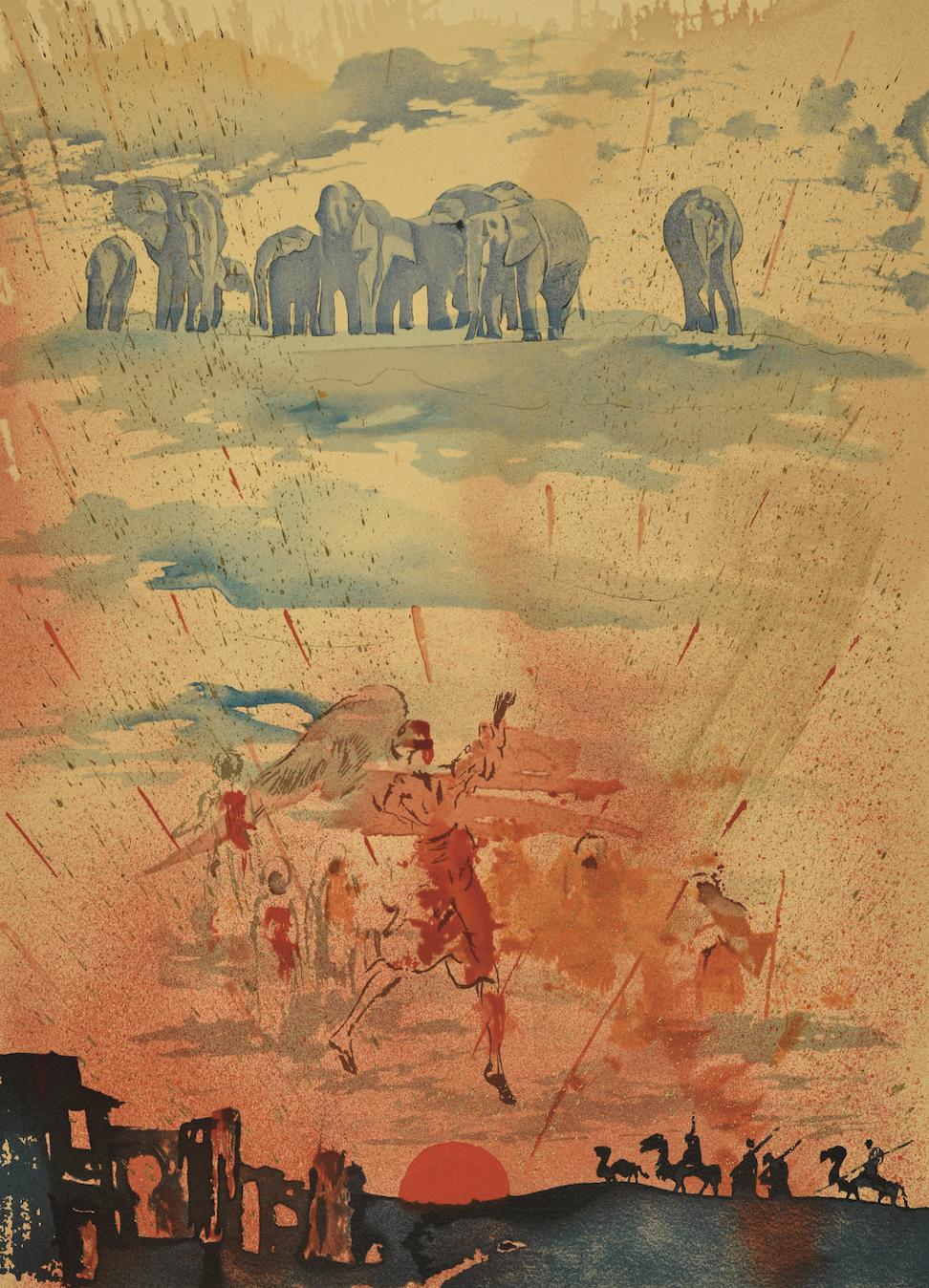 Сальвадор Далі, «Композиція зі слонами», 1970. З колекції Вадима Мороховского