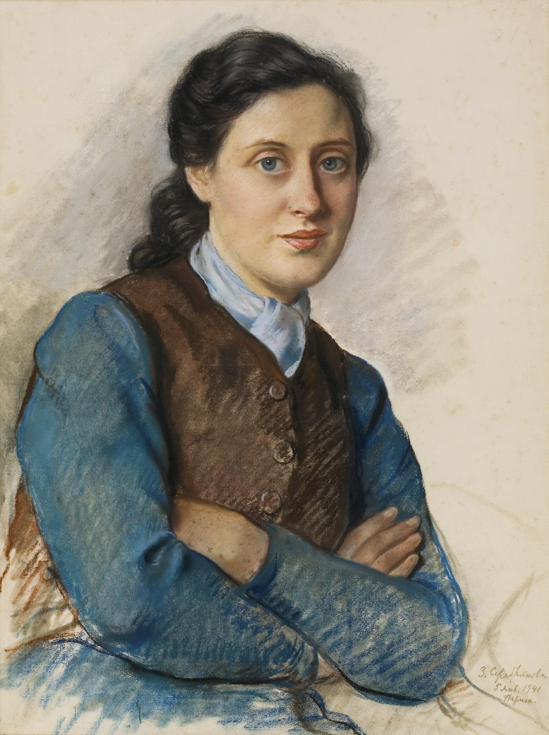 Зинаїда Серебрякова, «Портрет місіс Бейліц», 1941. З колекції Андрія Адамовського