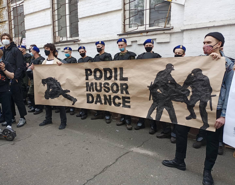 Лука Басов та Нікіта Кадан на мирній акції протесту. Фото: Ксенія Малих
