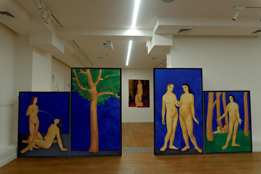 Фото: Поліна Полікарпова, з виставки Катерини Лисовенко, кураторка: Ксенія Малих у Voloshyn Gallery