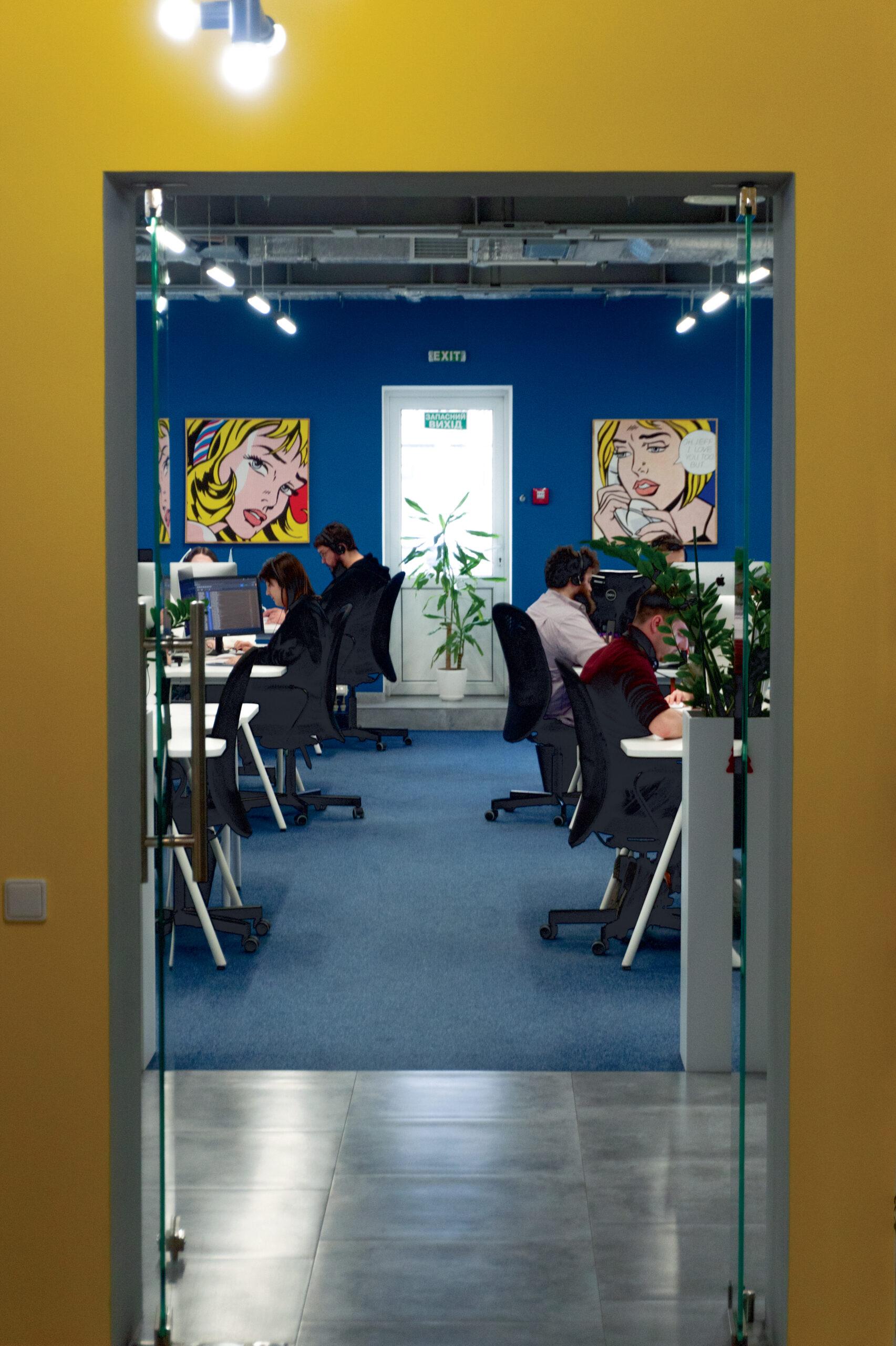 Інтер'єр одного з офісів компанії SupportYourApp. Фото: Поліна Полікарпова