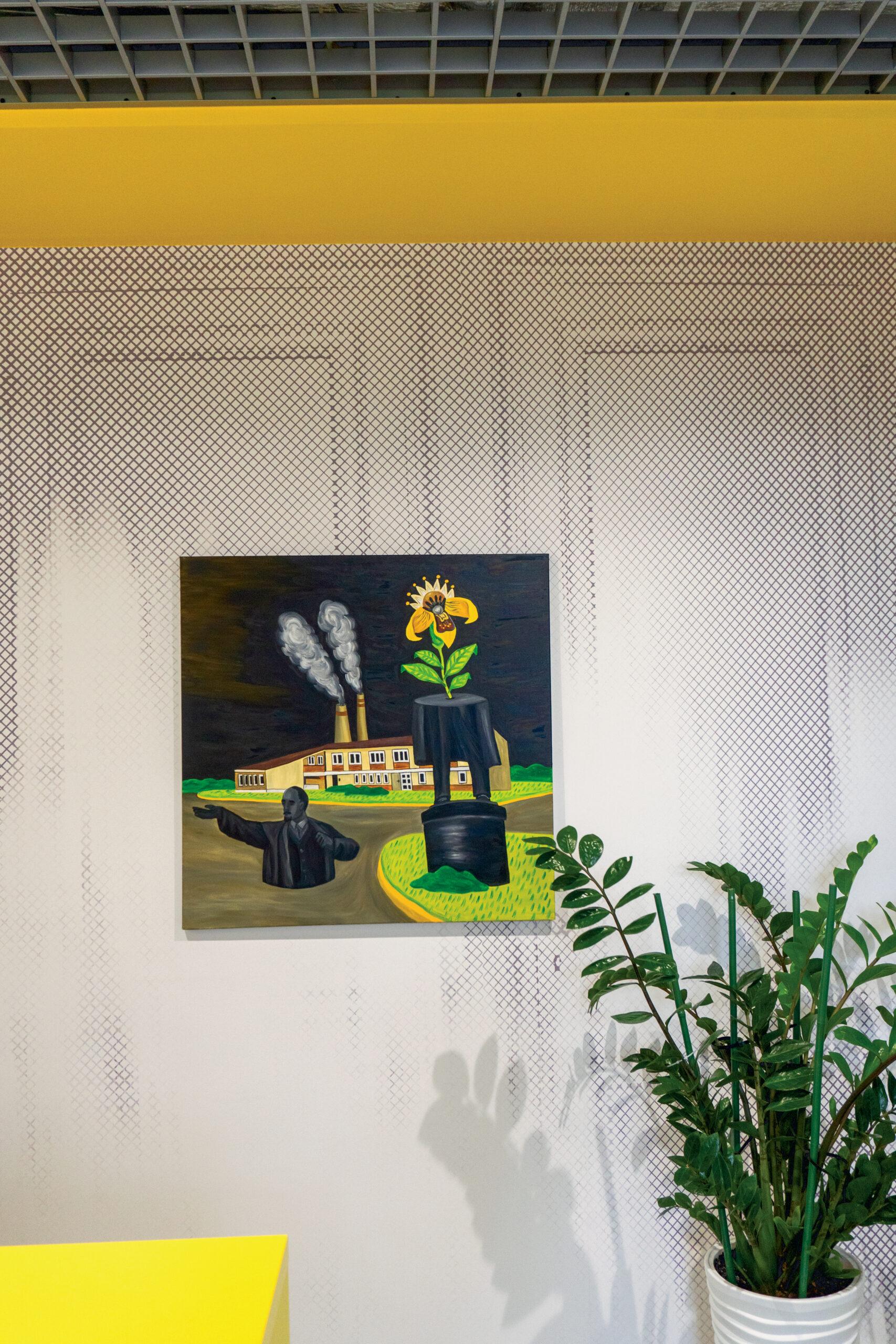 На стіні — робота Юрія Болси. Фото: Поліна Полікарпова