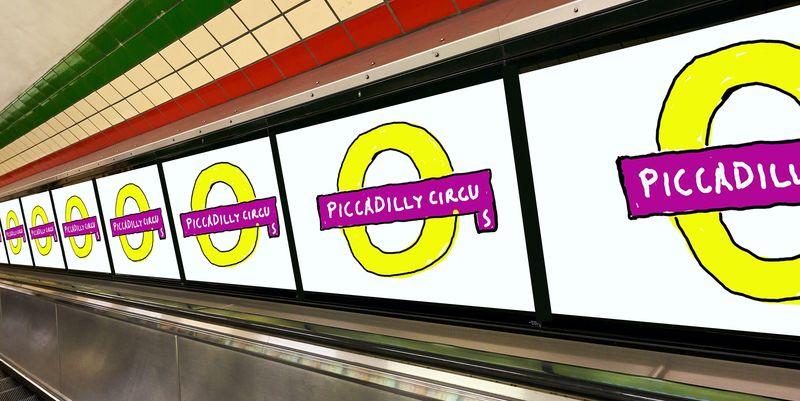 Над Девідом Гокні почали глузувати за дизайн логотипу станції метро