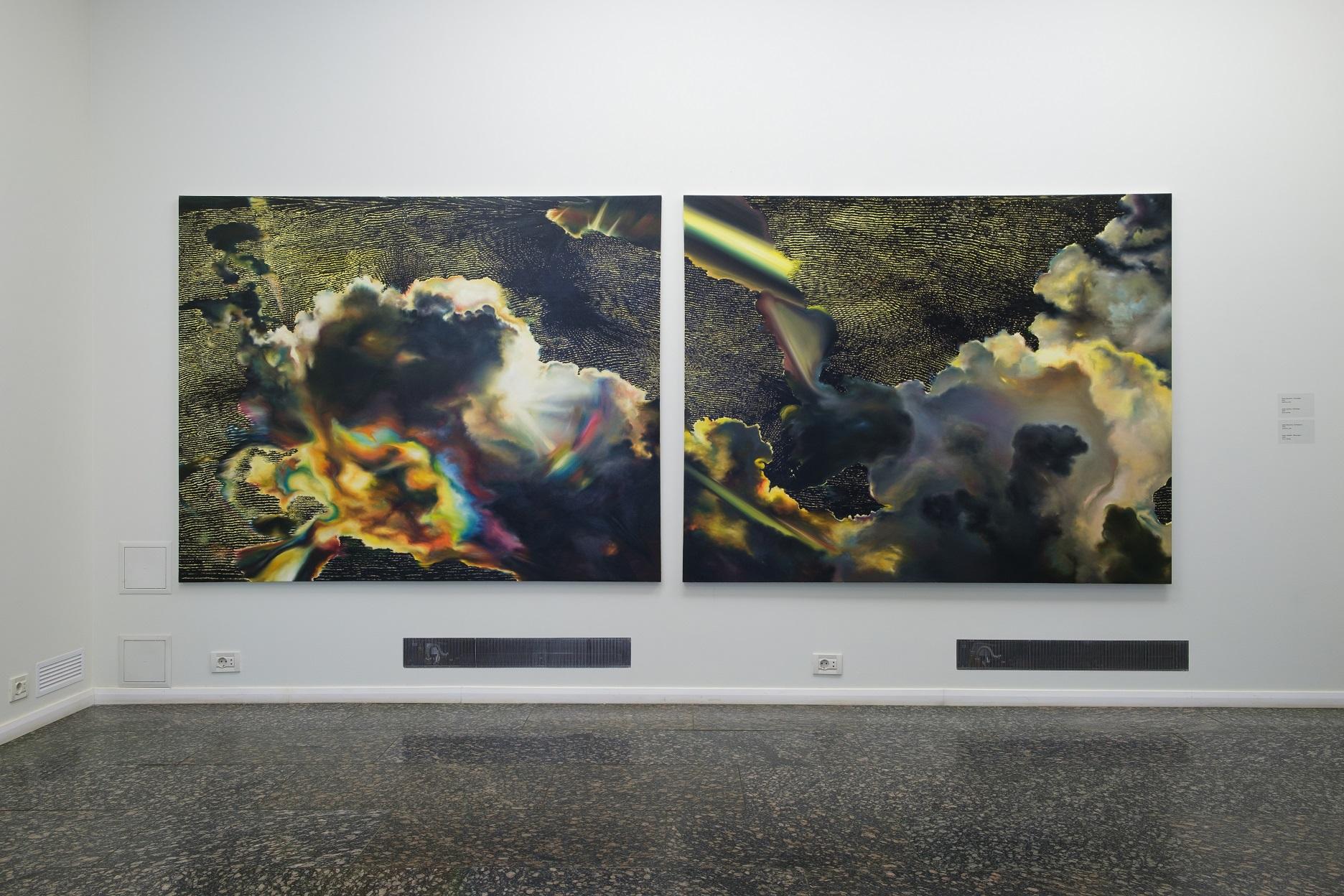 Експозиція виставки «Абстрактне світло» у Dymchuk Gallery