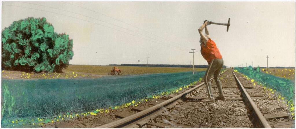 Віктор Кочетов, «Шляхові роботи між ст. Вовчанськ та Білий Колодязь», 1991 ©MOKSOP
