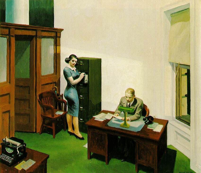 Едвард Гоппер, Office at Night (1940) ©Wikimedia