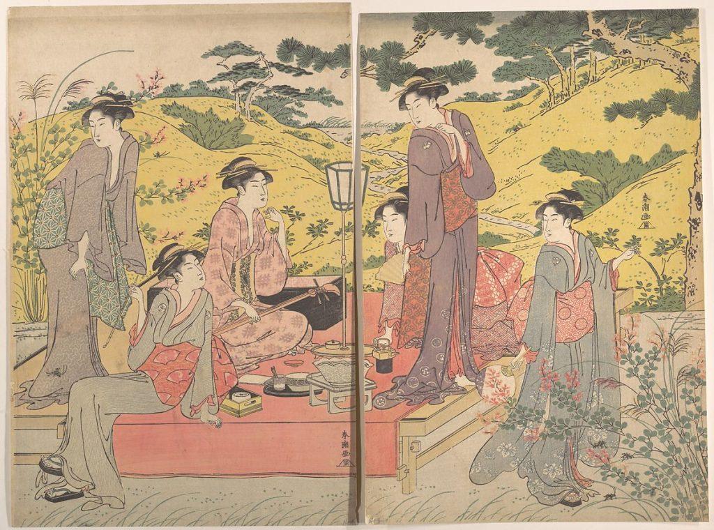 Кацукава Сюнтьо, A Picnic Party at Hagidera. Колекція the Metropolitan Museum of Art