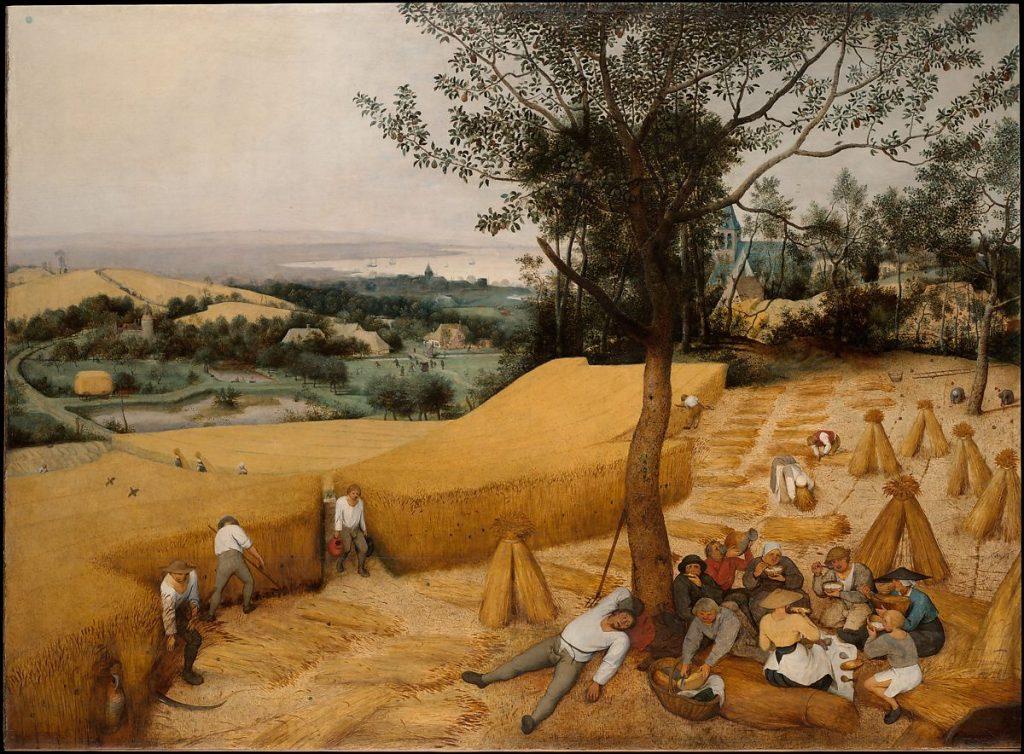 Пітер Брейгель Старший The Harvesters (1565). Колекція, Metropolitan Museum of Art.