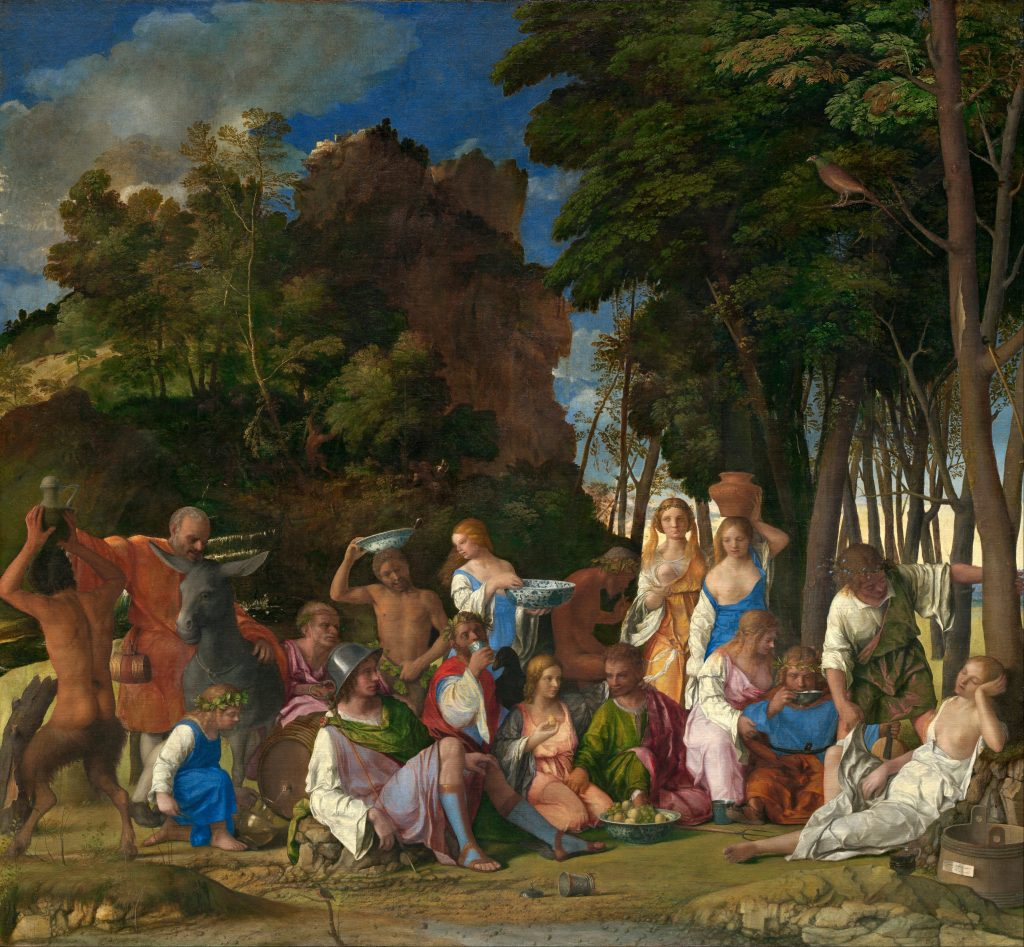 Джованні Белліні, Feast of the Gods (1514). Collection of the National Gallery of Art