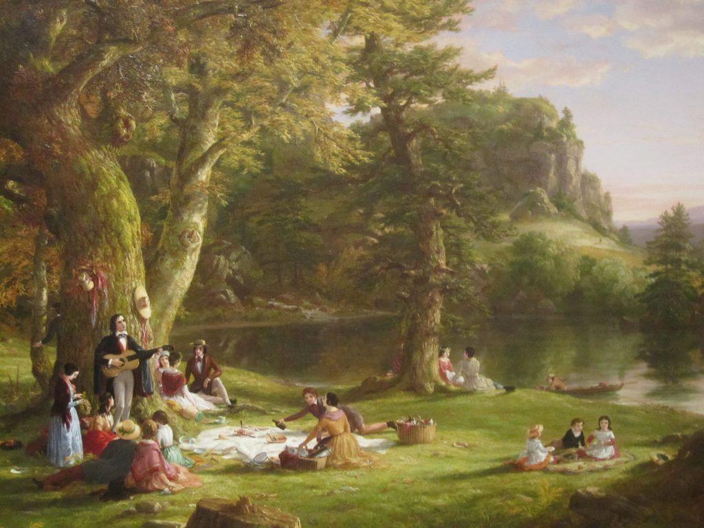 Томас Коул, A Pic-nic Party (1846). Колекція Brooklyn Museum
