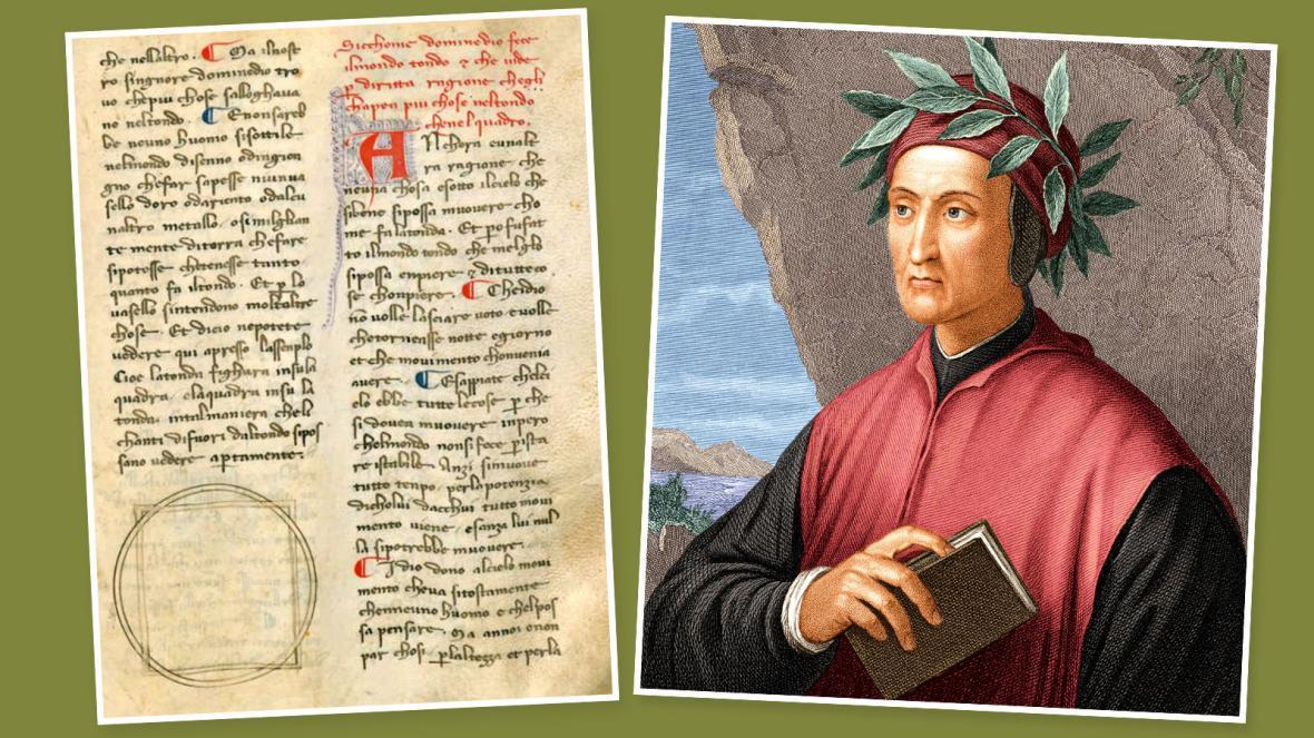 Черниця з Італії знайшла рукописи з оригінальним почерком Данте