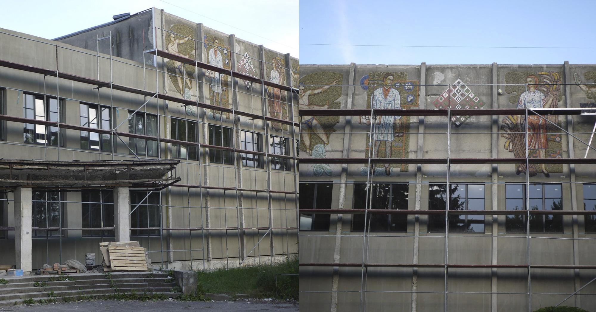 У Тернополі почали руйнувати мозаїку Валерія Ламаха