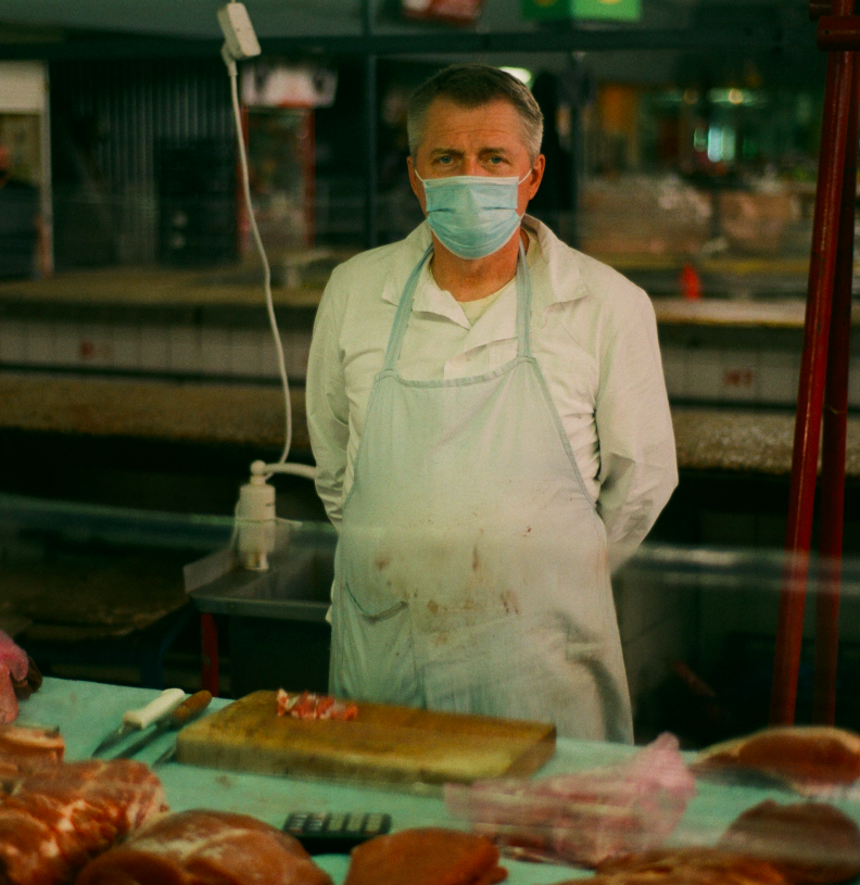 М'ясник з Житнього ринку. Фотограф: Антон Орехов