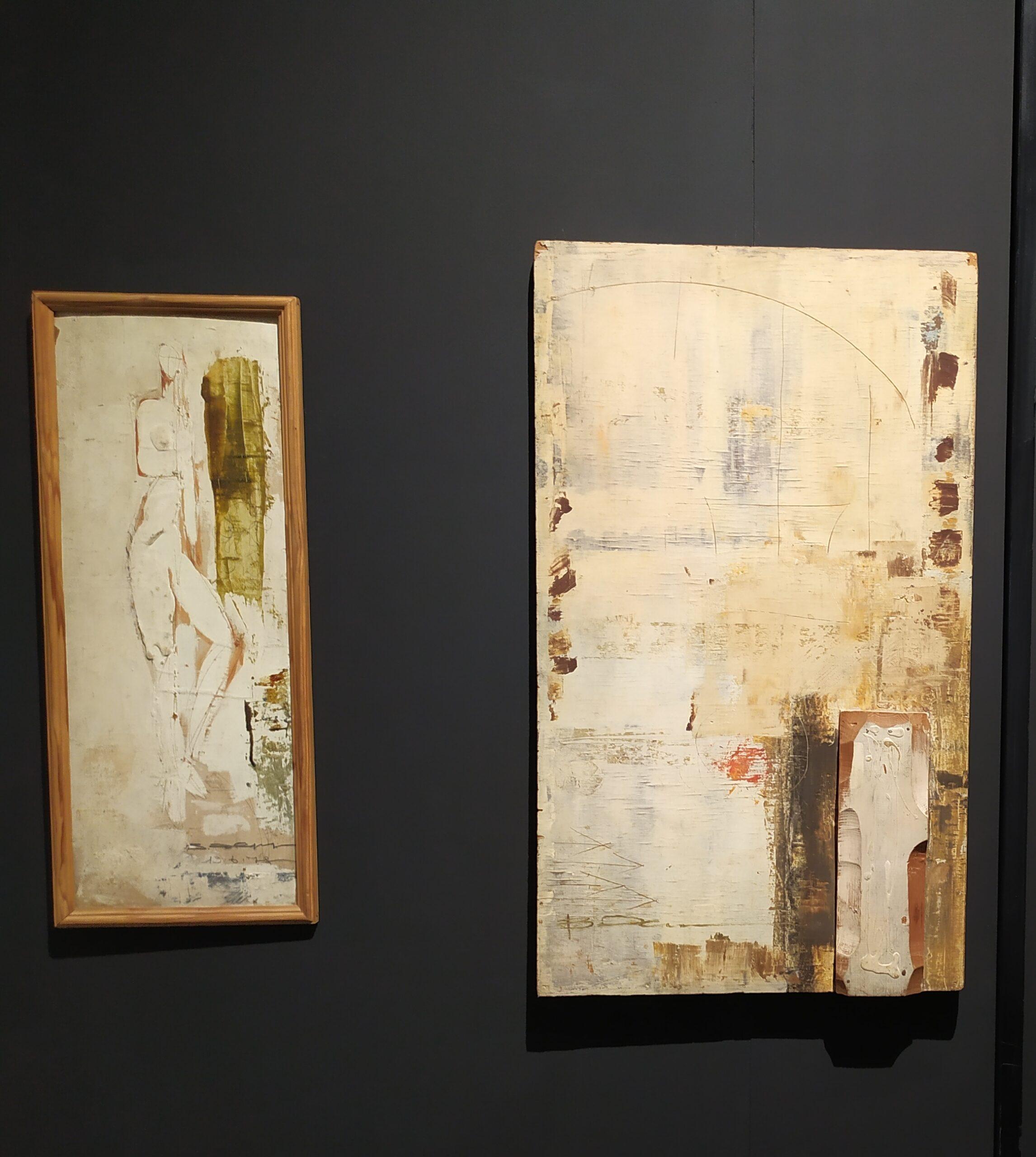 Зліва — роботи В. Хруща, справа — Живопис Т. Сільваші.