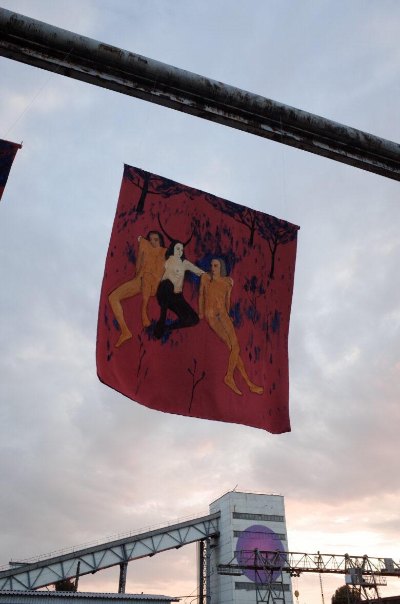 Kateryna Lysovenko. My Dream World Propaganda. Pennants, diptych, 2021. Катерина Лисовенко. Пропаганда світу моєї мрії. Панно, диптих, 2021