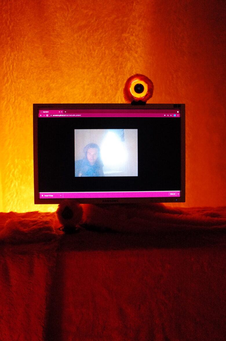 Variable name (Marina Khrypun & Valerie Karpan). Trust Room. Interactive installation, digital art, 2020 - 2021.Назва змінна (Марина Хрипун & Валерія Карпань). Trust Room. Інтерактивна інсталяція, digital art, 2020 - 2021