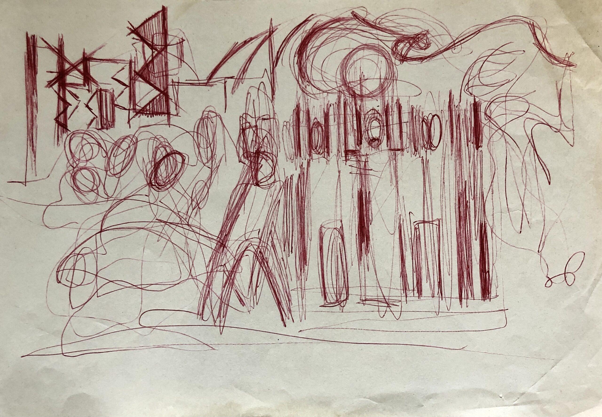 Віктор Зарецький, Алла Горська. Ескіз до мозаїки «Прапор перемоги» в Краснодоні, 60-ті. Надано сім'єю художника