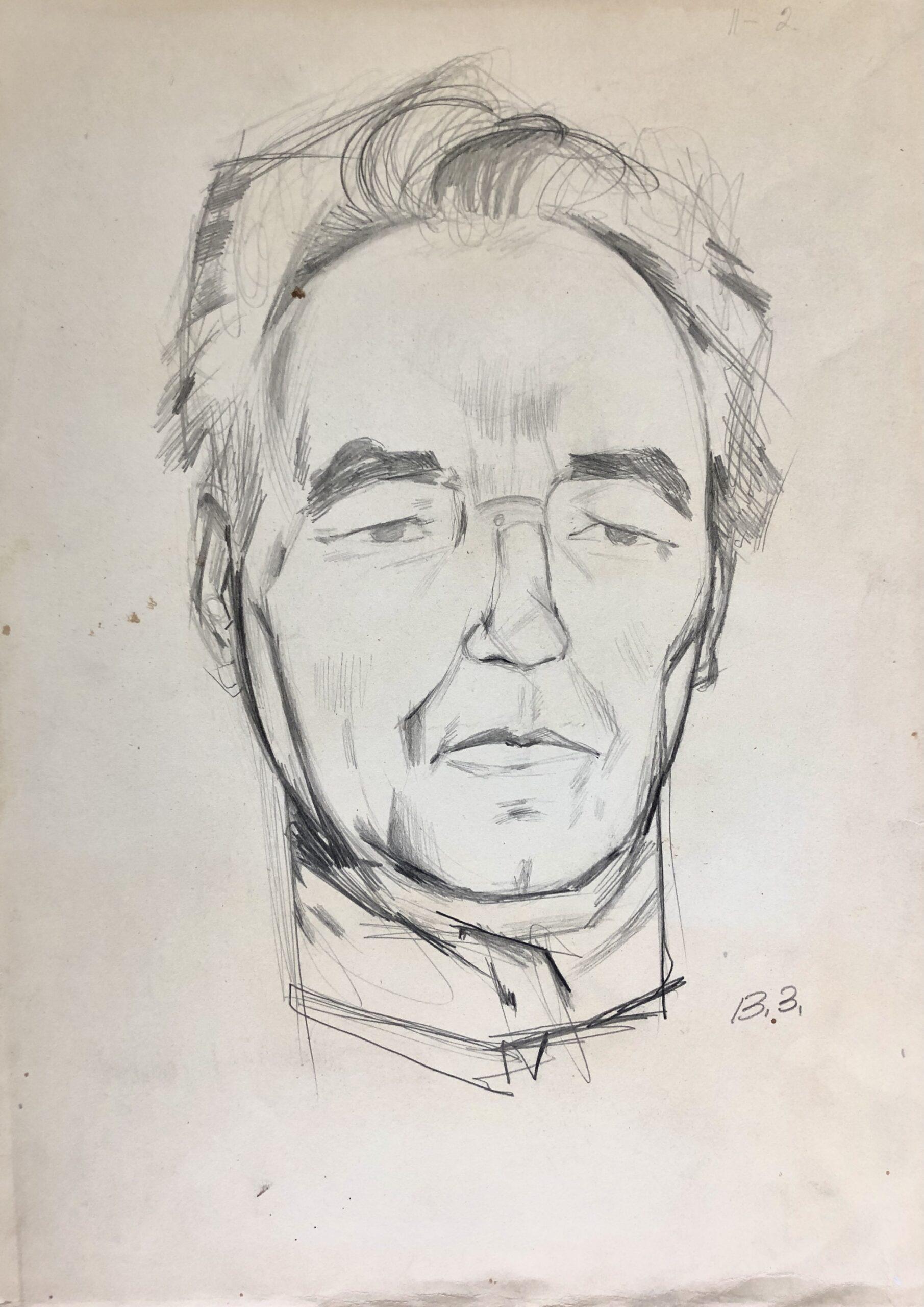 Віктор Зарецький, «Портрет В. Касіяна», 70-ті. . Надано сім'єю художника