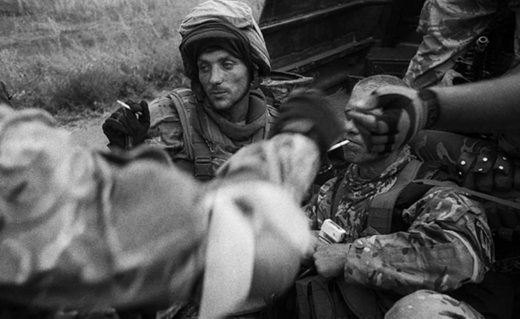 Боєць батальйону «Донбас», 17 серпня 2014 року. Робота Олександра Глядєлова