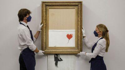 Картину Бенксі «Дівчинка з повітряною кулею» продали у 18 разів дорожче, ніж 3 роки тому